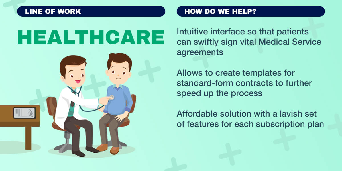 Infogtraphics: Intuitive interface, create templates for standard-form contracts, affordable solution