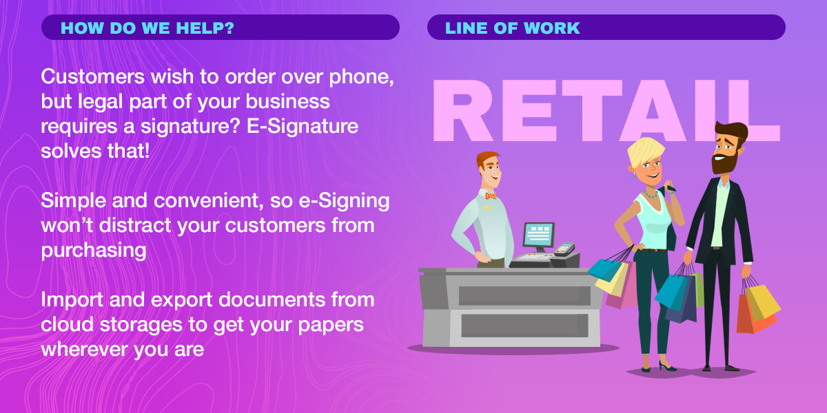 Infographics: E-Signature, Import and export documents